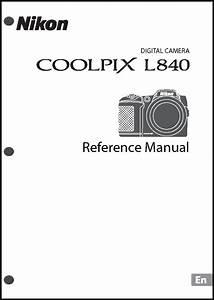 Nikon Coolpix L840 Digital Camera User Guide Instruction