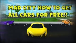 roblox mad city unlock  cars script   robux