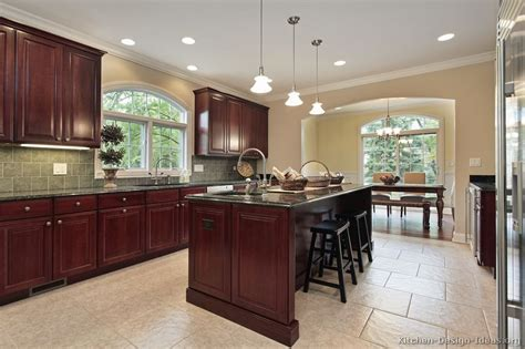 cherry kitchen ideas pictures kitchens traditional dark wood cherry color green kitchen cabinets pictures kitchens