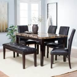 Dining Room Sets With Bench Finley Home Palazzo 6 Dining Set With Bench Dining Table Sets At Hayneedle