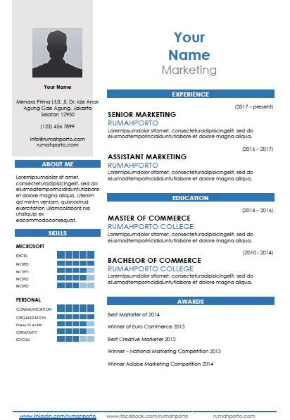 curated cv template download cv templates for free rumahporto
