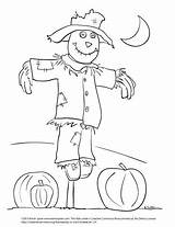 Scarecrow Coloring Spear Draw Moon Night Kevinspear sketch template