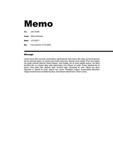 business memo templates  templates