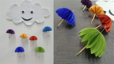 paper umbrella wall hanging diy easy paper crafts