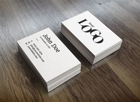 realistic business card mockup graphicburger