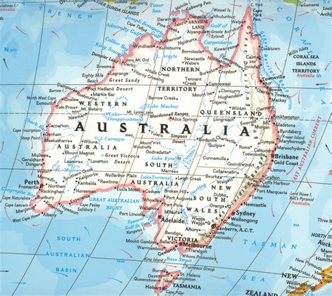 Regions list of australia with capital and administrative centers are marked. australia map