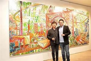 Beijing Artist You Jin Displays His Paintings In Hong Kong