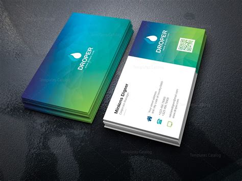 turquoise template turquoise professional corporate business card template