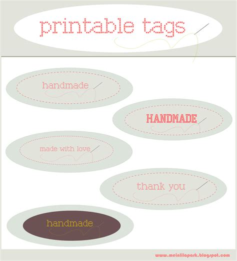 "free printable ""handmade"" and ""made with love"" tags"