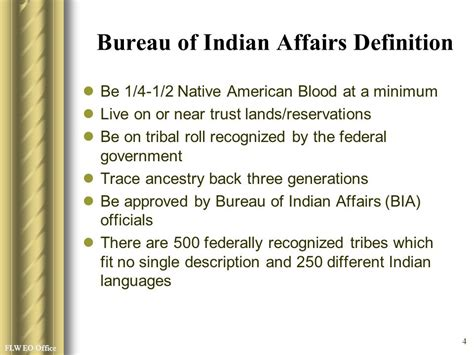 federal bureau of indian affairs experience ppt