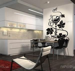 Stickers Muraux Cuisine : stickers muraux raisins vdc1003fr ~ Premium-room.com Idées de Décoration