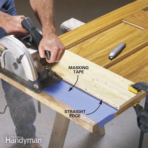 cut  wood door bottoms  family handyman