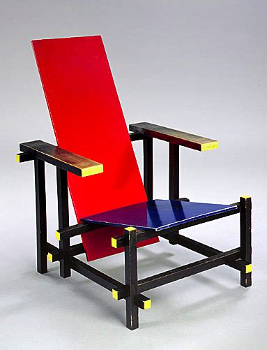 gerrit rietveld chaise et bleue 1918 design bauhaus and bauhaus