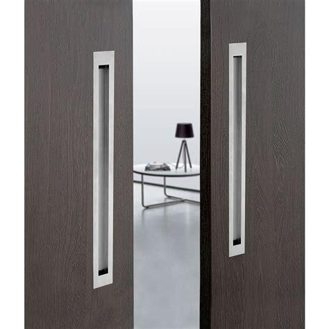 recessed cabinet pull chrome large rectangular design flush pull handle for