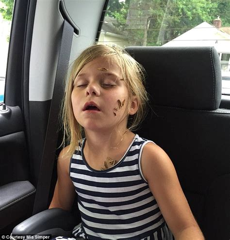 Mia Simper Tweets Snaps Of Her Sleeping Sister Covered In