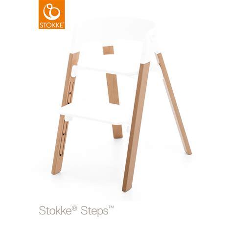 chaise stokke steps pieds pour la chaise haute steps hêtre naturel de stokke