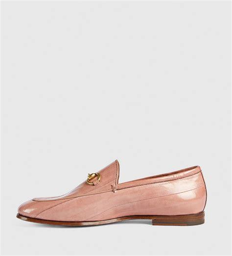 fendi loafer gucci jordaan eel loafer in pink lyst