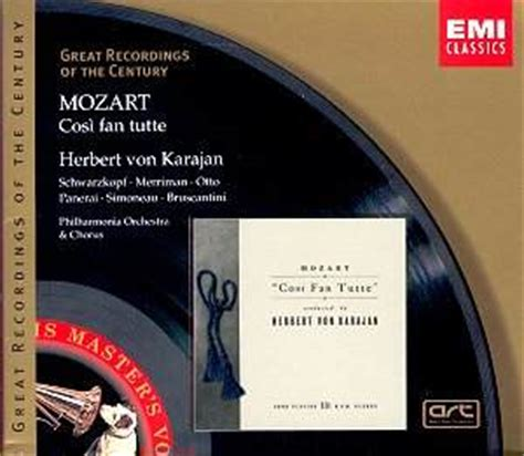 mozart cosi fan tutte mozart cosi fan tutte karajan cc classical reviews