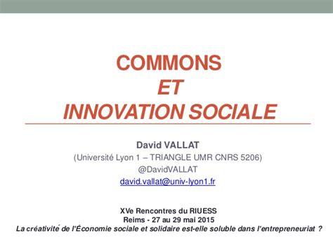 bpi si鑒e social innovation sociale management des connaissances et commons