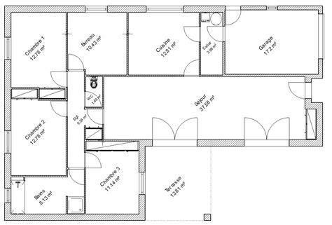 plan de maison 2 chambres plan de maison 4 chambres salon