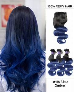"New Arrival 10""-22"" Black Blue Ombre Body Wave Free Part ..."
