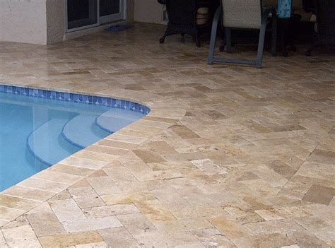 tiles for pool area travertine pool areas travertine pool tile pavers