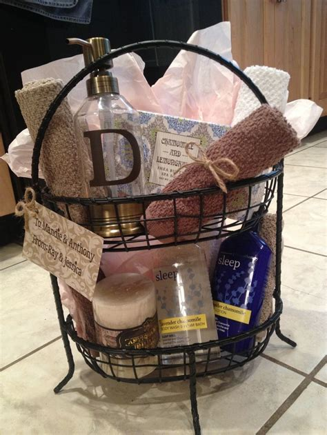 bathroom gift ideas wedding gift baskets for