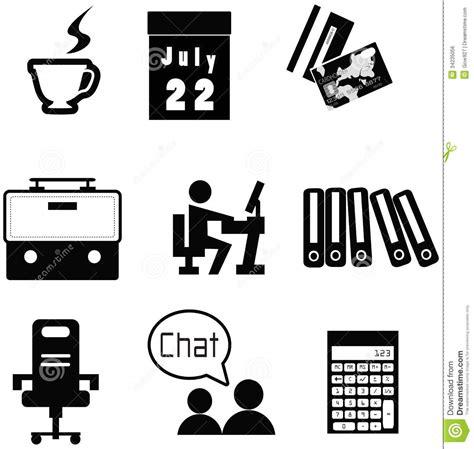 icones bureau ensemble matériel de collection d 39 icône de bureau image