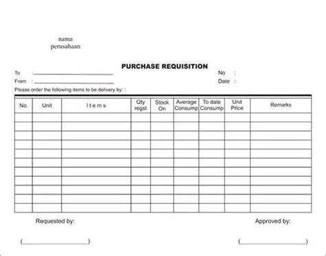requisition form template 10 purchase requisition form for free