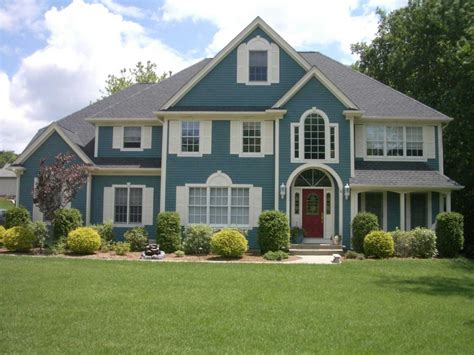 blue exterior house color schemes