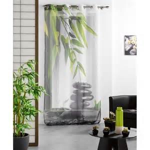 Rideaux Zen Bambou by Rideau Voilage Galet Zen 140x240cm
