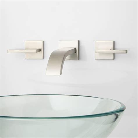 wall mount bathroom sink faucet ultra wall mount bathroom faucet lever handles wall