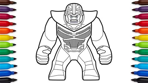 how to draw lego thanos from marvel s avengers infinity