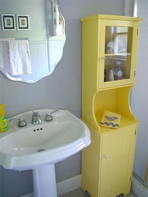 Yellow Grey Bathroom Ideas by Oleander And Palm Grey And Yellow Bathroom Redo