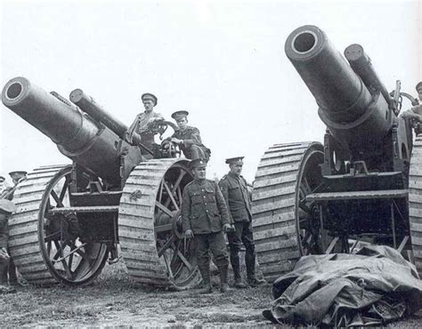siege canon 8 inch howitzers of 135th siege battery at la houssoye on