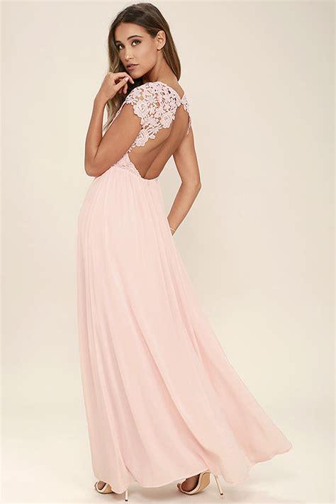light blush pink dress lovely blush pink dress lace dress maxi dress 86 00