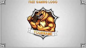 Free Gaming Clan logo Template Photoshop CS6 PSD YouTube