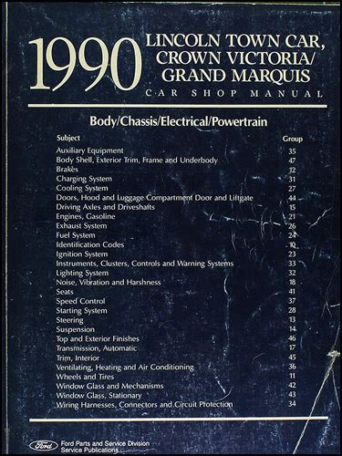 car repair manuals online free 1990 mercury grand marquis electronic toll collection 1990 lincoln town car ford crown victoria mercury grand marquis repair shop manual original