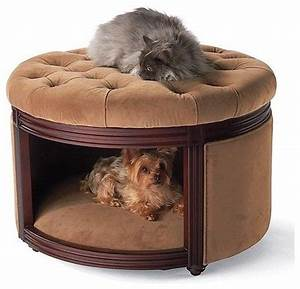 pet ottoman den dog bed crafted of birch wood upholstered With upholstered dog bed