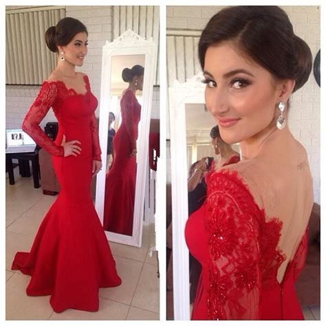 BM 2015 Hot Sales Red Bridesmaid Dress Sexy Lace Backless ...
