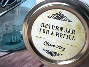 return jar for a refill custom vintage canning jar labels With custom jelly jar labels