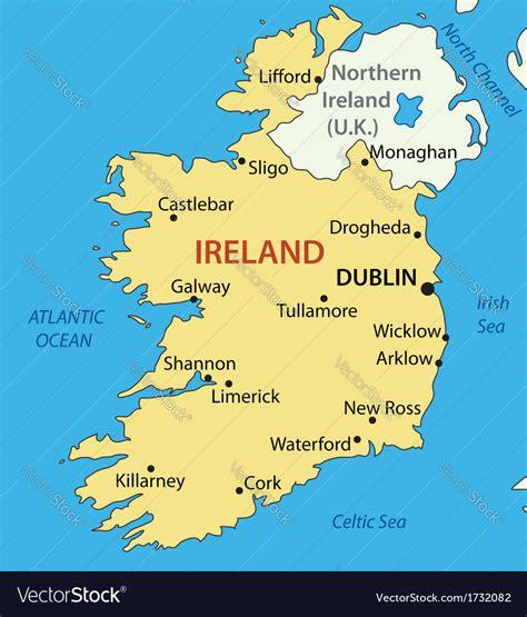 republic  ireland map royalty  vector image