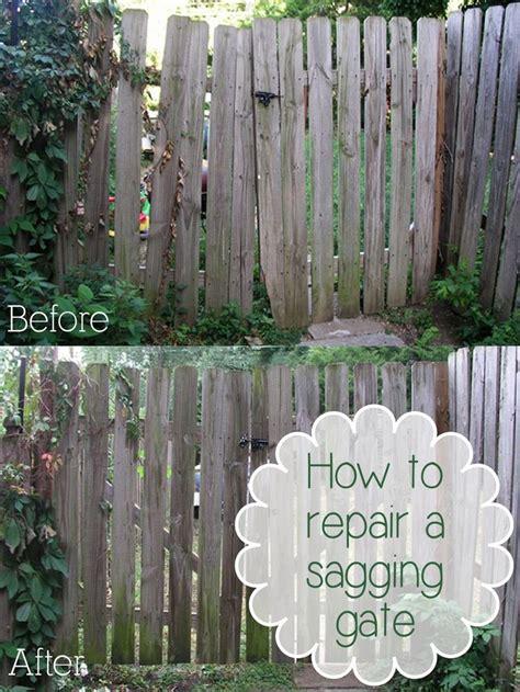 repair  sagging gate diy home repair home