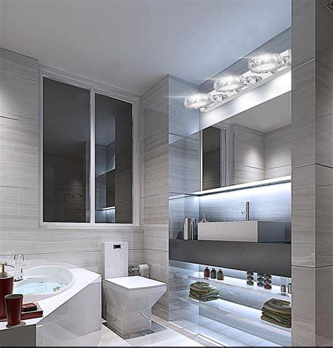 modern  crystal led bathroom   mirror light cool