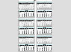 2011 Calendar 2