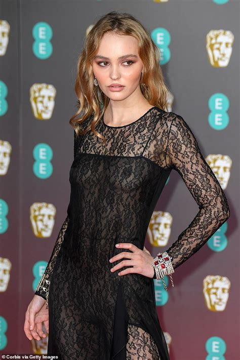 BAFTAs 2020: Braless Lily Rose Depp wears sheer lace ...