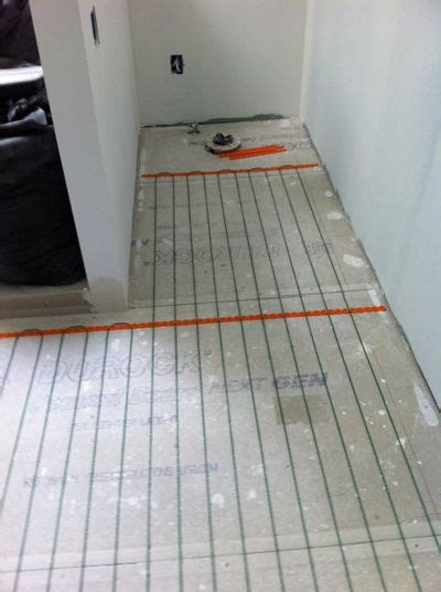 warm up your bathroom with heated floors