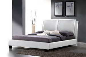 modern white faux leather upholstered headboard queen or