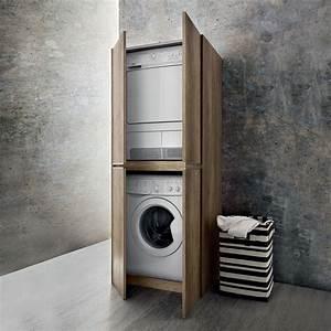 Farbe Für Waschküche : blizzard hochschrank f r waschmaschine und trockner arredaclick ~ Sanjose-hotels-ca.com Haus und Dekorationen