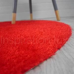 Tapis Rond Rouge : tapis rond lavable en machine rouge id al pour salle de bain de diam tre 100 cm ~ Teatrodelosmanantiales.com Idées de Décoration